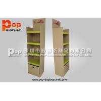 China Kraft Shelves Cardboard Stands / Creative Retailing Racks For Kitchenwares on sale