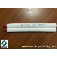 China PE Plastic Coated Copper Tubing , Insulation Air Conditioning 15 mm Copper Pipe on sale