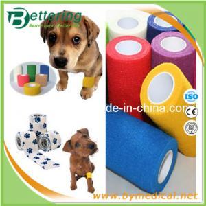 China Non woven Veterinary Bandage Pet bandage wrap cohesive elastic bandage on sale
