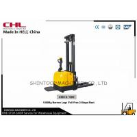 Best 1.4T Hydraulic Electric Pallet Stacker Curtis Controller Narrow Legs wholesale