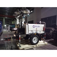 Quality Mining 9m Vertical Hydraulic Mast LED Diesel Light Towers Trailer for sale