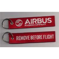 Buy cheap Remove Before Flight Airbus An Eads Company Fabric Embroidery Keychain Key Ring from wholesalers