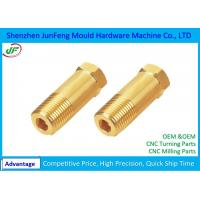 Quality Precision CNC Brass Parts / Cnc Machined Components 100% Full Inspection for sale