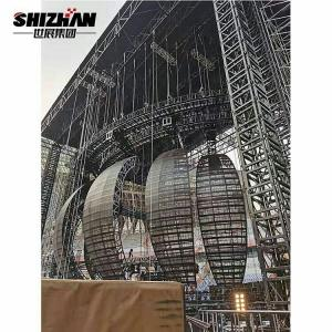 Quality LED Ball Heavy Duty Truss 85 Ton Loading Capacity Aluminium Stage Truss Structure for sale