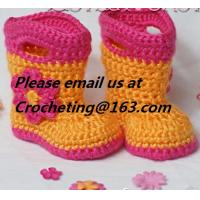 China New shoes for baby girl 12 colors knitted booties Newborn crochet booties baby moccasins first walker shoes on sale
