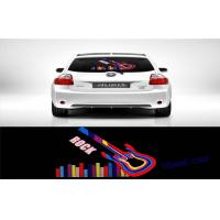 China Rock Music Guitar Lighting Up El Car Sticker For Rear Window Multi - color on sale