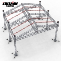Quality Concert Stage Roof Aluminum Truss Display Curved for sale