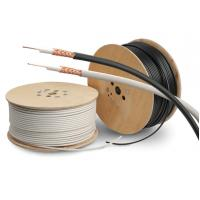PVC Sheath Copper Coaxial Cable RG59/U Type Cctv Coaxial Cable PE Dielectric