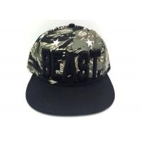 Quality BEAST 3D Emboridery Stylish Camouflage 6 Panels Snapback Baseball Caps for sale