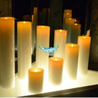 Same Diameter Different Height Flameless LED Pillar Candles