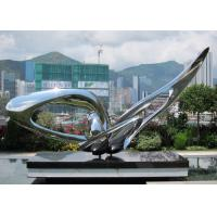 Contemporary Modern Stainless Steel Sculpture , Large Garden Metal Art Sculpture