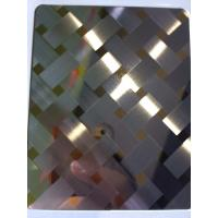 China China manufacturer 3D combination craft mirror hairline stainless steel sheets in foshan on sale