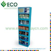 Quality Cardboard Material Crisps Display with Cells, Display Stand for Chips, Chips Display Rack for sale