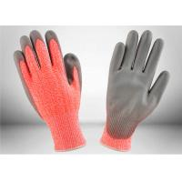 Quality Work Protection Cut Resistant Gloves Orange Knitted Shell Crinkle Latex Coated Palm for sale