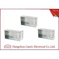 Quality Custom Outdoor Waterproof Metal Electrical Gang Box Pre Galvanized for sale
