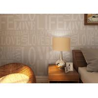 Quality 0.53*10M Modern Non - woven Wallpaper , Fashion LOVE English Letters Wallpaper for sale