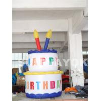 China Custom Attractive Birthday Cake Holiday Inflatables decorations For Party on sale