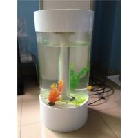 China Popular Custom Acrylic Fish Tank With Led Light And Perfect Transparency on sale