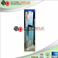 Best Glossy PP LAM Semi Permanent Display , Women Make Up / Skin Care Product  Floor Display wholesale