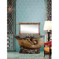 China Antique Resin Bathroom Cabinet With Double Sink Bathroom Furnitute on sale