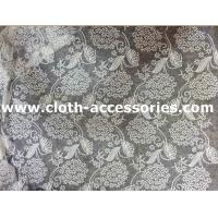 China Flower Mesh Crochet Net Lace Fabric White Polymide Decoration For Wedding on sale