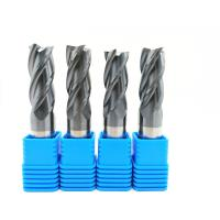 Quality 2-12 mm Solid Carbide End Mills 2 / 3 / 4 / 6 Flutes Milling Cutter CNC Tool for sale