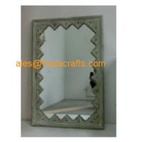 China FR-16704 Factory direct price elegant design rectangle shape wood decorative wall mirror on sale