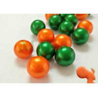 China Bright green bright orange paintball, PEG paintballs, Gelatin material, 0.43'', 0.5'', 0.68'' caliber on sale