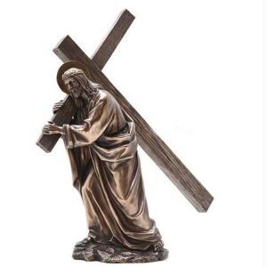 Quality Religion Large metal Jesus cross bronze sculpture,customized bronze statues, China sculpture supplier for sale