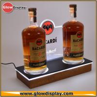 Supermarket Wooden Beer Liquor Bottle Display Shelf Decoration Show