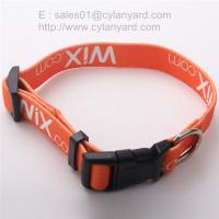 Quality Imprint Polyester Adjustable Dog Collars, China pet supply factory for sale