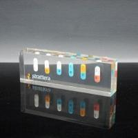 Buy cheap Acrylic Resin Paperweight with Block Cube/Embedded Medical Pills, Ideal for Souvenir Gifts from wholesalers