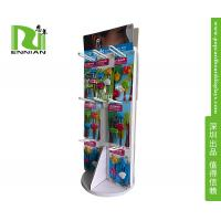 Quality Custom Pop Corrugated Jewelry Floor Spinner Display Rack With Peg Hooks for sale