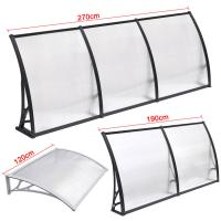 Quality Durable Solid Polycarbonate Awning , PC Door Canopy Patio Cover Long Life Span for sale