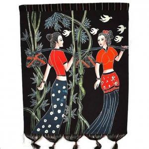 Best Batik Painting,Folk Crafts Arts,Handicrafts,Wall Hangings wholesale