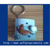 Quality Mini Photo Album Rubber Custom Key Chains / Soft PVC Key Holder for Christmas Gifts for sale