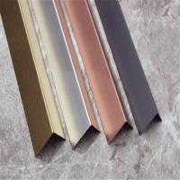 Quality China supplier stainless steel angle tile trim(stainless steel, grade 304, hairline finish) for sale