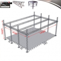 Quality Outdoor Mobile Aluminum Roof Truss Stands DJ Booth for sale