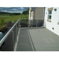 Quality Environmental WPC Deck Flooring Anti - UV Dark Grey For Balcony , wpc  material for sale