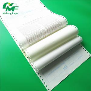 Quality China Manufacturer Secret Envelope Carbonless Paper Pin Mailer Payslip Ncr Atm Computer Paper for sale
