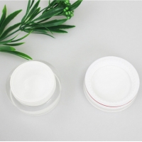 Quality OEM 30g 50g Acrylic Plastic Cosmetic Cream Jars With Screw Cap for sale