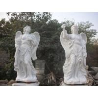 Quality Garden Deco Life size Four angel marble statues,china marble sculpture supplier for sale