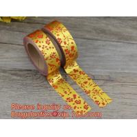 Buy cheap foil tape custom printed decorative washi foil tape,Assorted Designs Christmas from wholesalers
