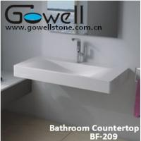 China Acrylic Solid Surface Bathroom Gowell vanity top on sale