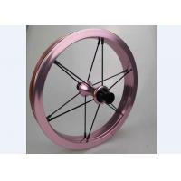 Quality Super Light 12inch Single  Wall  Alloy Kids Balance Bike Wheelset Children Bicycle Wheels 74 85 90 92 95mm Pink Color for sale