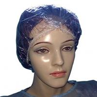 China PE Transparent Shampoo Shower Cap For Sauna Single Use 0.018mm , 0.020mm Thickness on sale