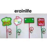Quality Christmas Decoration Accessories Garden Plastic Plug Different Letters Wrinting for sale