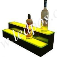 Two Tiers LED Lighted Liquor Display Bar Shelf