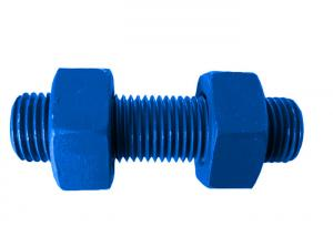 Quality ASME B18.31 Fluoro Blue Or HDG Carbon Coating Hex Bolt And Nuts for sale