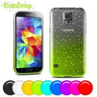 Best Soft Tpu cell phone covers for samsung s5 , Raindrop design mobile phone covers wholesale